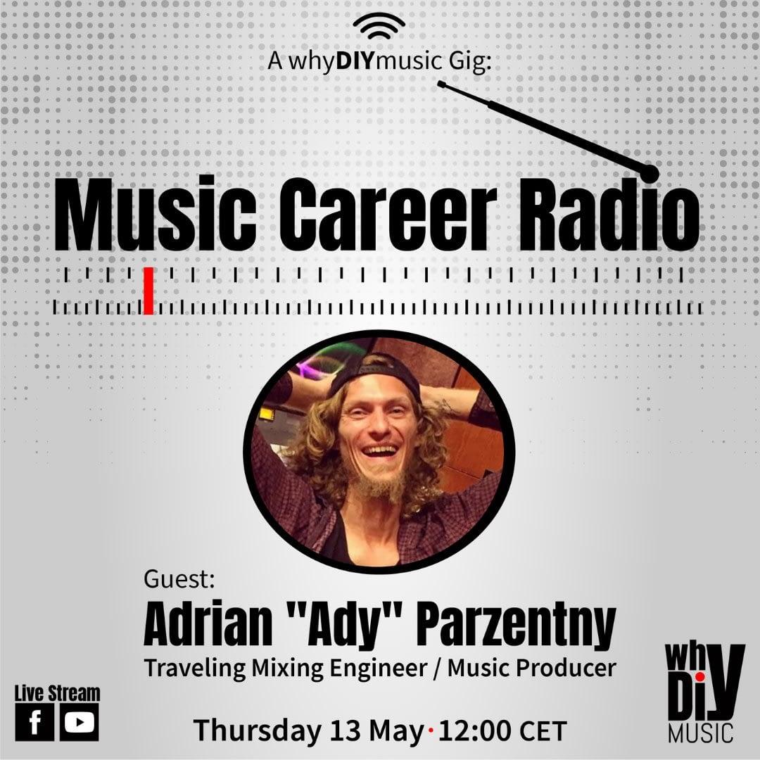 Ady from Hit The Road Music Studio on the Music Career Radio with Nani Noam Vazana