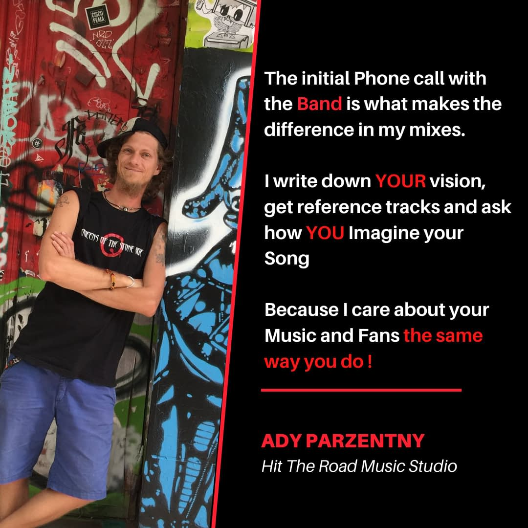 Difference in mixes with the initial phone call | Ady | Hit the road music studio