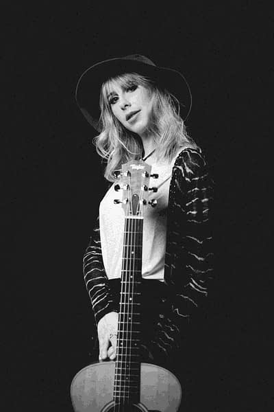 """Artist Layla Kay with Guitar   Mastering by Hit The Road Music Studio   Adrian """"Ady"""" Parzentny"""