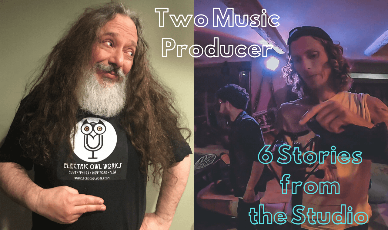 2 music producer sharing 6 stories from the recording studio