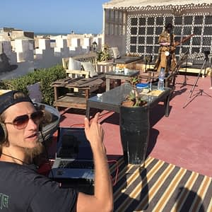 Soundguy and Baba recording on the Roof